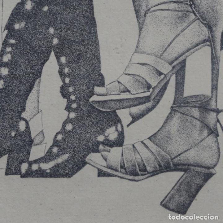 """Arte: Grabado aguafuerte de rudolf häsler.serie """"ramblas 73-75"""".bien enmarcado.36/100 - Foto 8 - 182730121"""