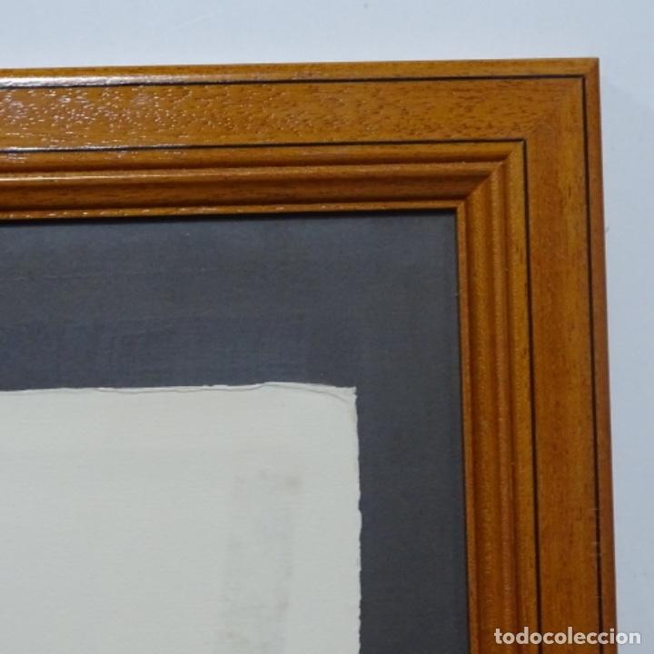 """Arte: Grabado aguafuerte de rudolf häsler.serie """"ramblas 73-75"""".bien enmarcado.36/100 - Foto 11 - 182730121"""