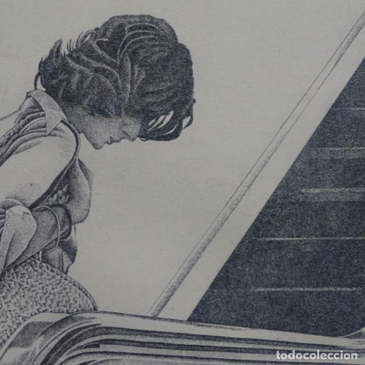 """Arte: Grabado aguafuerte de rudolf häsler.serie """"ramblas 73-75"""".bien enmarcado.36/100 - Foto 4 - 182730198"""