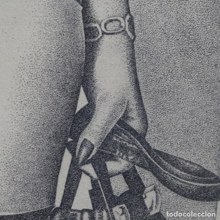 """Arte: Grabado aguafuerte de rudolf häsler.serie """"ramblas 73-75"""".bien enmarcado.36/100 - Foto 7 - 182730198"""