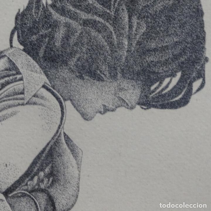 """Arte: Grabado aguafuerte de rudolf häsler.serie """"ramblas 73-75"""".bien enmarcado.36/100 - Foto 8 - 182730198"""