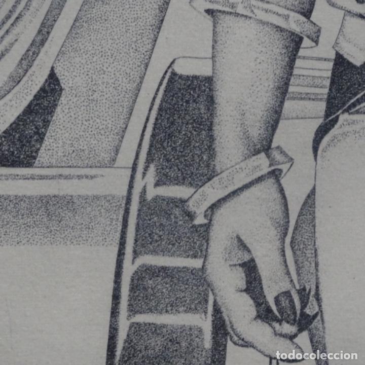"""Arte: Grabado aguafuerte de rudolf häsler.serie """"ramblas 73-75"""".bien enmarcado.36/100 - Foto 9 - 182730198"""