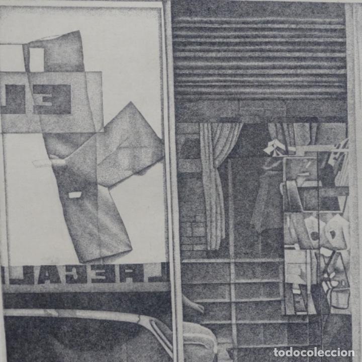 """Arte: Grabado aguafuerte de rudolf häsler.serie """"ramblas 73-75"""".bien enmarcado.36/100 - Foto 4 - 182730325"""