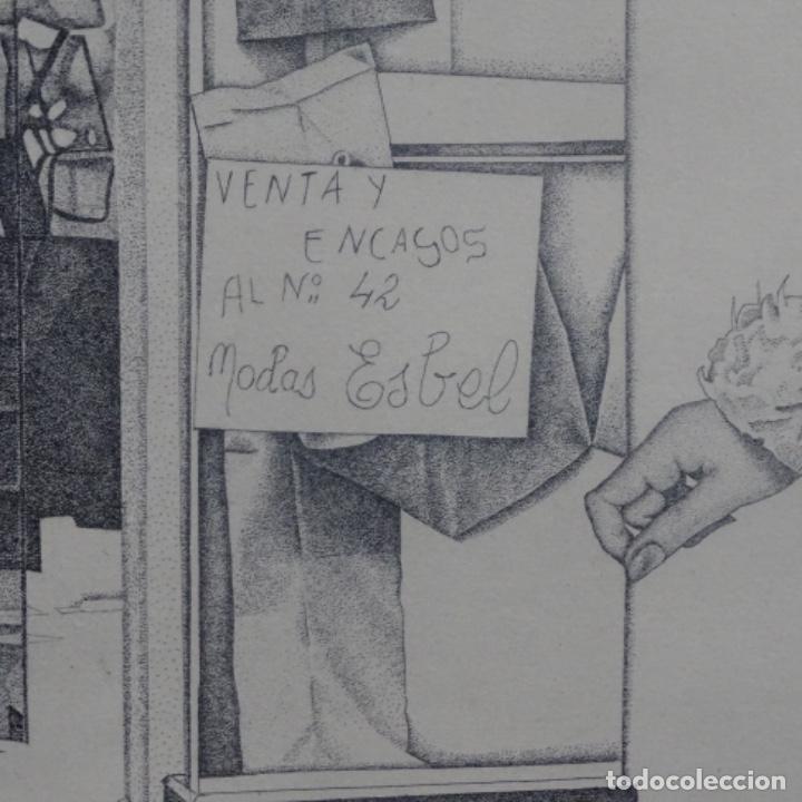 """Arte: Grabado aguafuerte de rudolf häsler.serie """"ramblas 73-75"""".bien enmarcado.36/100 - Foto 5 - 182730325"""