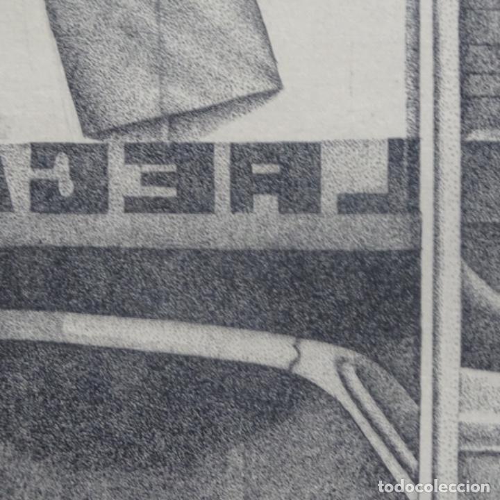 """Arte: Grabado aguafuerte de rudolf häsler.serie """"ramblas 73-75"""".bien enmarcado.36/100 - Foto 8 - 182730325"""