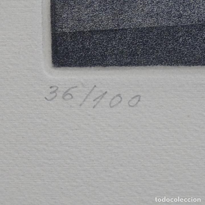 """Arte: Grabado aguafuerte de rudolf häsler.serie """"ramblas 73-75"""".bien enmarcado.36/100 - Foto 9 - 182730325"""