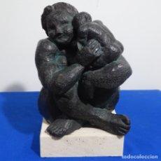 Arte: ESCULTURA TIRADA 015/100.FIRMA ILEGIBLE.EN PIEDRA RESINA CON BASE DE MÁRMOL.. Lote 182731662