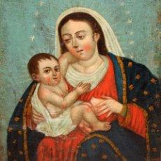 Arte: VIRGEN DE LA LECHE - OLEO - ESCUELA COLONIAL - SG XIX - 53 X 42,5 CM.. Lote 182733871