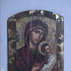 Arte: EXCELENTE ICONO BIZANTINO VIRGEN DEL PERPETUO SOCORRO.. Lote 182739685