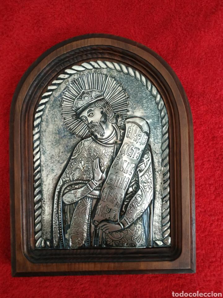 ICONO GRIEGO REPUJADO EN PLATA (Arte - Arte Religioso - Iconos)