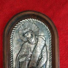 Arte: ICONO GRIEGO REPUJADO EN PLATA. Lote 182782455