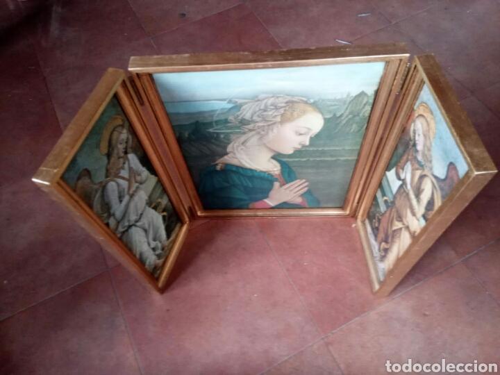Arte: Precioso cuadro tríptico religioso - Foto 2 - 182843268