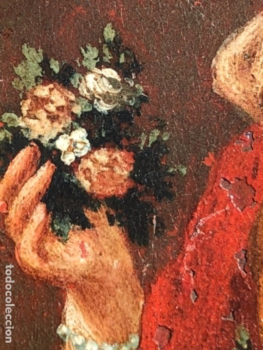 Arte: OLEO SOBRE COBRE VIRGEN, SANTO / SANTA 8X10,5 CM SIGLO XVIII -XIX - Foto 4 - 182854540