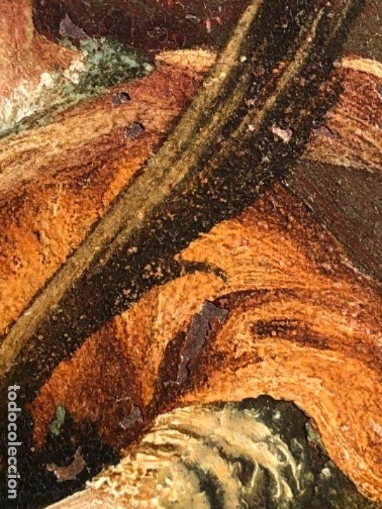Arte: OLEO SOBRE COBRE VIRGEN, SANTO / SANTA 8X10,5 CM SIGLO XVIII -XIX - Foto 7 - 182854540