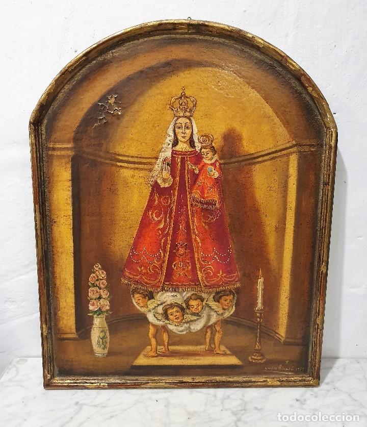 OLEO SOBRE TABLA FIRMADO (Arte - Arte Religioso - Pintura Religiosa - Oleo)
