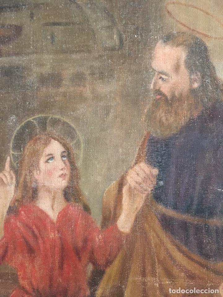 Arte: PINTURA RELIGIOSA ANTIGUA - SAN JOSE Y EL NIÑO JESUS - FIRMADO - RAFAEL ROMEU ? - Foto 4 - 182905098