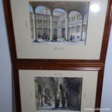Arte: DOS GRABADOS ENMARCADOS DE GENARO PÉREZ VILLA-AMIL . Lote 182912292