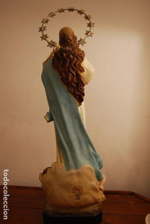 Arte: Talla Virgen Inmaculada - Foto 2 - 182972711
