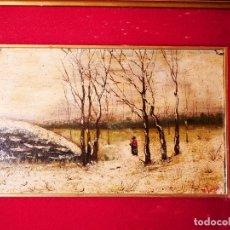 Arte: PINTURA SOBRE TABLA FINALES SIGLO XIX. AUTOR B. LÓPEZ. Lote 182985027