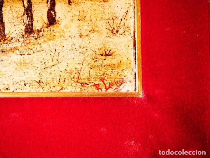 Arte: PINTURA SOBRE TABLA FINALES SIGLO XIX. AUTOR B. LÓPEZ - Foto 2 - 182985027