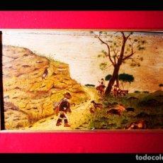 Arte: PINTURA NAIF, FINALES SIXLO XIX. FIRMADO B. LÓPEZ. Lote 182985386