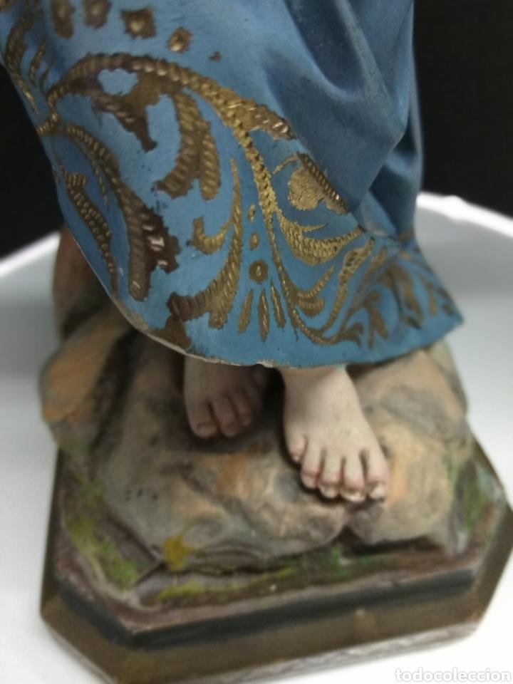 Arte: NIÑO JESUS CRUCIFICADO. ESTUCO POLICROMADO SELLO OLOT SIGLO XIX-XX OJOS CRISTAL PASIONARIO - Foto 9 - 183178976