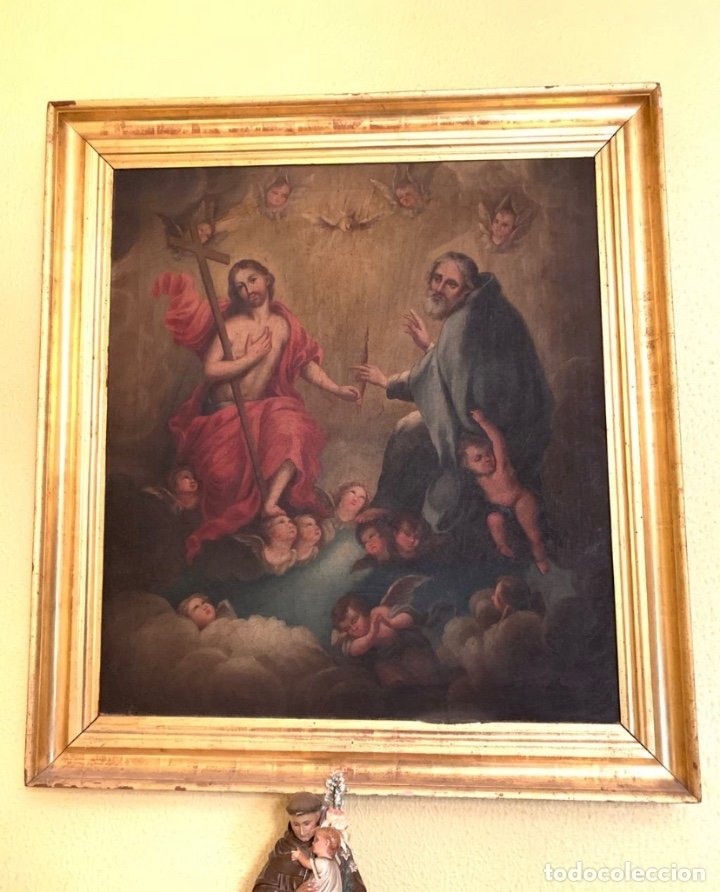 Arte: Óleo Religioso Antigüedades - Foto 7 - 183190473