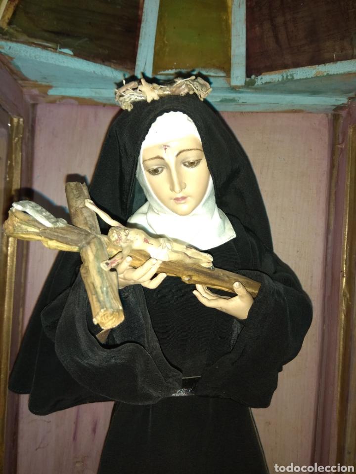 Arte: Escultura Santa Rita siglo XIX Madera Policromada - - Foto 13 - 80676299