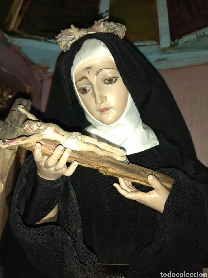 Arte: Escultura Santa Rita siglo XIX Madera Policromada - - Foto 15 - 80676299