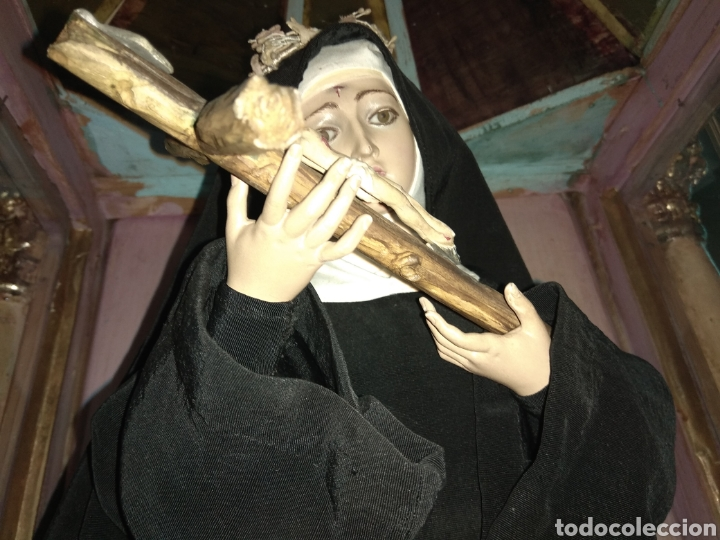 Arte: Escultura Santa Rita siglo XIX Madera Policromada - - Foto 16 - 80676299