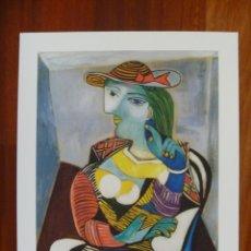 Art: GRAN LITOGRAFÍA PICASSO MARIE THERESE WALTER COLECCIÓN DOMAINE EDICIÓN LIMITADA CERTIFICADA. Lote 183205445