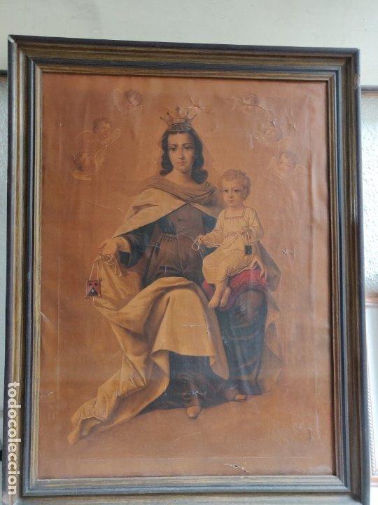 CUADRO VIRGEN DEL CARMEN (Arte - Arte Religioso - Litografías)