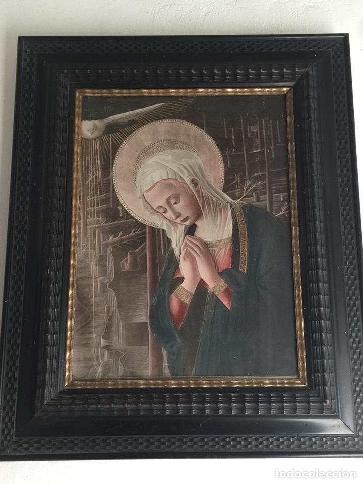 MARAVILLOSO CUADRO ANTIGUO (Arte - Arte Religioso - Pintura Religiosa - Otros)