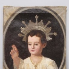 Arte: BONITO NIÑO JESUS. OLEO S/ LIENZO. SIGLO XVIII. Lote 183277116