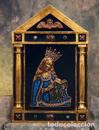 VIRGEN, ORFEBRERÍA Y ESMALTE AL FUEGO (Arte - Arte Religioso - Escultura)