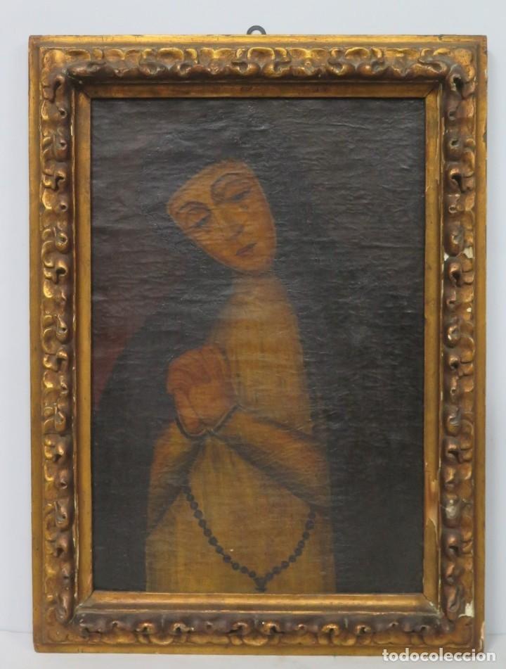 VERDADERO RETRATO VIRGEN DE LA PALOMA. OLEO S/ LIENZO. SIGLO XVIII (Arte - Arte Religioso - Pintura Religiosa - Oleo)
