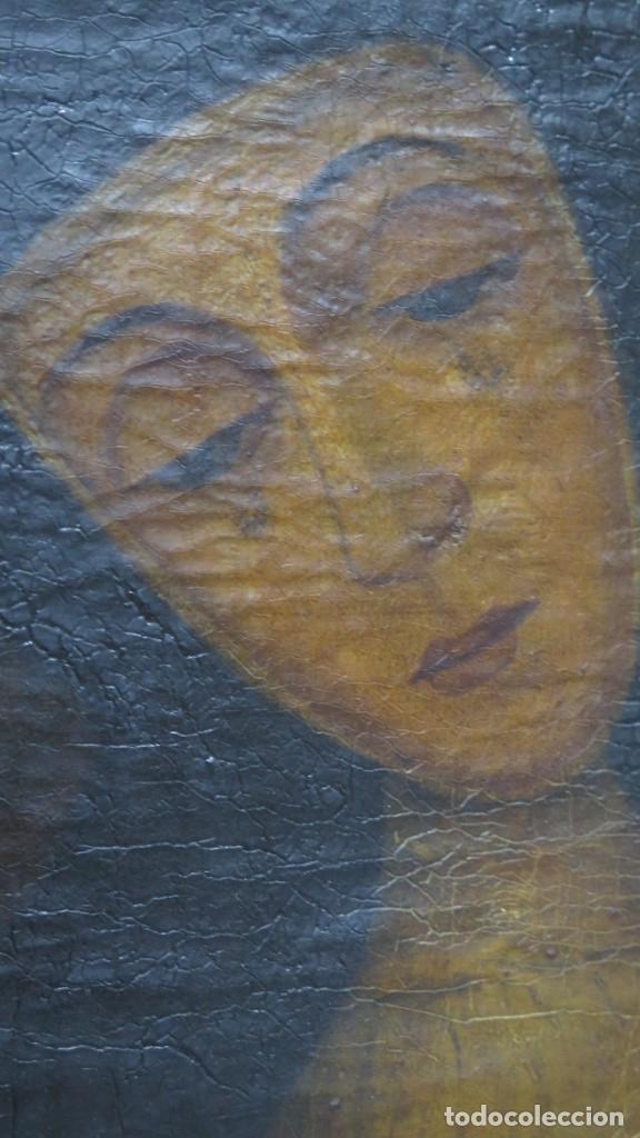 Arte: VERDADERO RETRATO VIRGEN DE LA PALOMA. OLEO S/ LIENZO. SIGLO XVIII - Foto 3 - 183280023