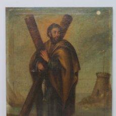 Arte: BONITO SAN ANDRES APOSTOL. OLEO S/ LIENZO. SIGLO XVIII. Lote 183280923