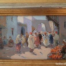 Arte: CASARRUBIOS. PINTOR. TOLEDO. OLEO SOBRE TABLA. ORIGINAL. FIRMADO.. Lote 183299477