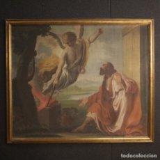 Arte: PINTURA RELIGIOSA ITALIANA ANTIGUA SACRIFICIO DE GEDEÓN DEL SIGLO XVIII. Lote 183299577