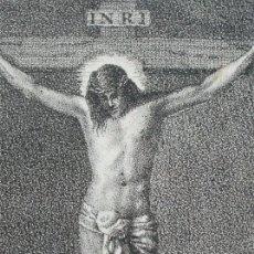 Arte: ANTIGUO GRABADO RELIGIOSO DE CRISTO CRUCIFICADO (SIGLO XIX). Lote 183315975