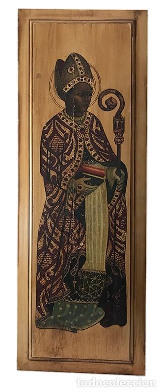 TABLILLA DE MADERA CON IMPRESION DE IMAGEN RELIGIOSA, PARECE SER UN PAPA (Arte - Arte Religioso - Pintura Religiosa - Otros)