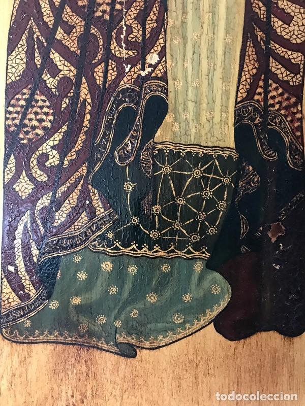 Arte: Tablilla de madera con impresion de imagen religiosa, parece ser un papa - Foto 9 - 183346060
