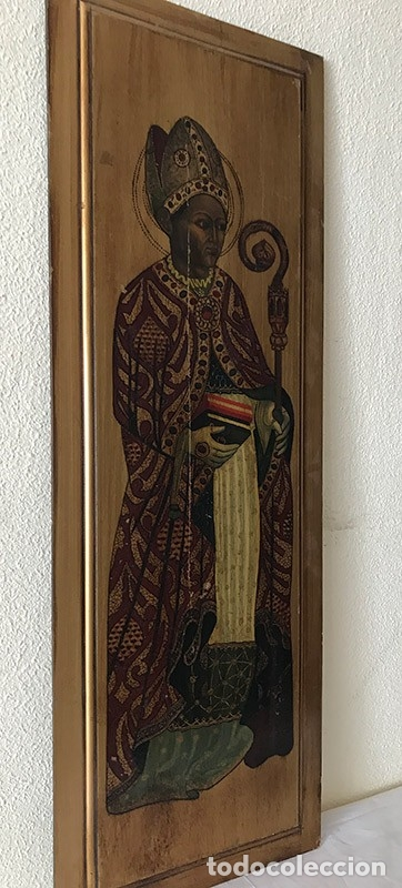 Arte: Tablilla de madera con impresion de imagen religiosa, parece ser un papa - Foto 10 - 183346060