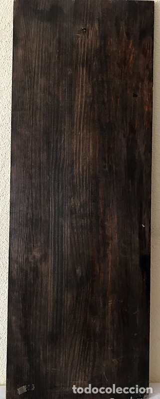 Arte: Tablilla de madera con impresion de imagen religiosa, parece ser un papa - Foto 11 - 183346060