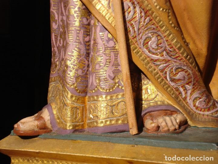 Arte: TALLA DE MADERA SAN JOSE CON NIÑO DORADO AL ORO FINO - Foto 10 - 183372837