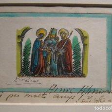 Arte: ENRIC CRISTÒFOL RICART. DESPOSORIOS DE LA VIRGEN Y SAN JOSÉ. 1945. FIRMADO. DEDICADO. XILOGRAFIA. Lote 183379997