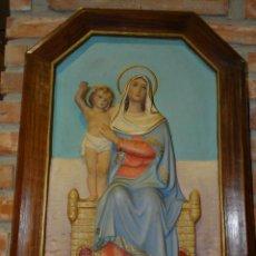 Arte: CUADRO DE DE LA VIRGEN CON EL NIÑO.. Lote 183410366