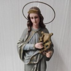 Arte: ANTIGUA SANTA CECILIA DE OLOT. 34 CM ALTO.. Lote 183431315