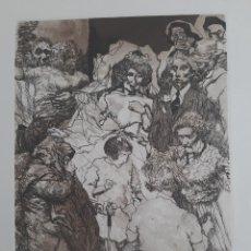 Arte: LA BODA, GRABADO DE MANUEL ALCORLO, 1980. Lote 183434593